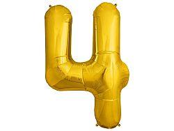 Amscan 4-es arany szám születésnapi fólia lufi 86 cm