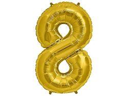 Amscan 8-as arany szám születésnapi fólia lufi 86 cm