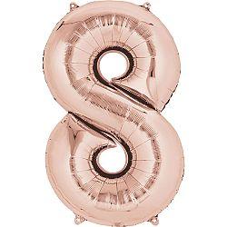 Amscan 8-as rózsaszín-arany szám születésnapi fólia lufi