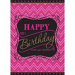 Amscan Abrosz - Happy birthday Born to be fabulous!