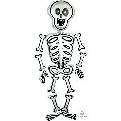 Amscan Airwalker léggömb Mr. Skelly - Halloween