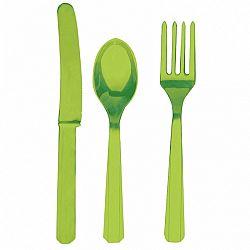 Amscan Evőeszköz - zöld, 8 főre