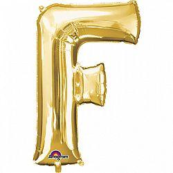 Amscan F betű fólia lufi 86 cm - arany