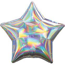 Amscan Fólia lufi - Holografikus ezüst csillag
