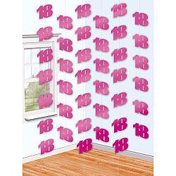 Amscan Függő dekoráció 18. születésnap - rózsaszín