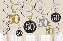 Amscan Függő dekoráció 50. születésnap - csillogó arany