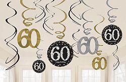 Amscan Függő dekoráció 60. születésnap - csillogó arany