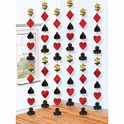 Amscan Függő dekoráció - casino 6 db