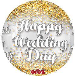 Amscan Happy Wedding Day Fólia lufi