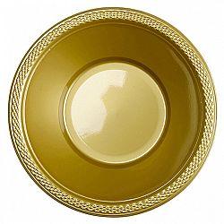 Amscan Műanyag tálak - arany 10 db