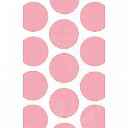 Amscan Papír tasakok - pöttyös, baba rózsaszín 10 db