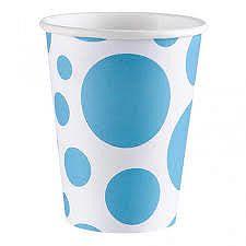 Amscan Poharak - kék pöttyös 8 db