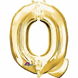 Amscan Q betű fólia lufi 86 cm - arany