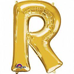Amscan R betű fólia lufi 86 cm - arany