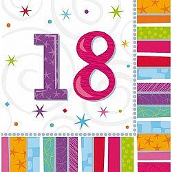 Amscan Szalvéták - 18. születésnap 16 db