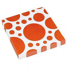 Amscan Szalvéták - narancssárga pöttyös 20 db