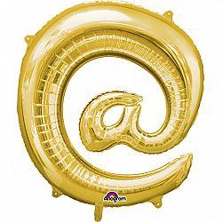 Amscan @ szimbólum fólia lufi 86 cm - arany
