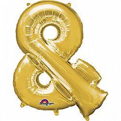 Amscan & szimbólum fólia lufi 86 cm - arany