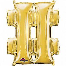 Amscan # szimbólum fólia lufi 86 cm - arany