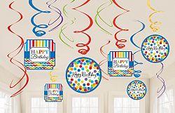 Amscan Színes születésnap függő dekoráció