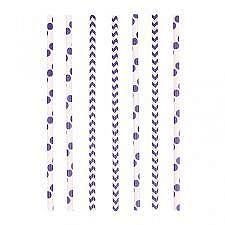 Amscan Szívószálak - lila 24 db