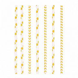 Amscan Szívószálak - sárga 24 db