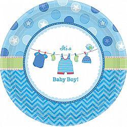 Amscan Tányérok - Baby Boy