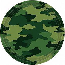 Amscan Tányérok - katonai terepmintás 8 db