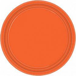 Amscan Tányérok - narancssárga 8 db