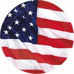 Amscan Tányérok - USA 8 db