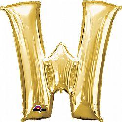 Amscan W betű mini fólia lufi 33 cm - arany