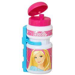 Barbie készlet - műanyag üveg + műanyag tartó