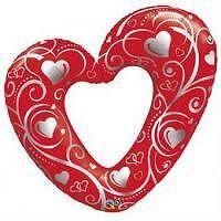 BP Piros szív fólia lufi