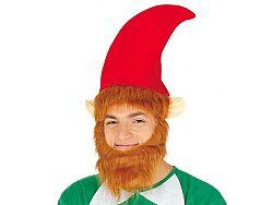 Guirca Elf sapka bajusszal