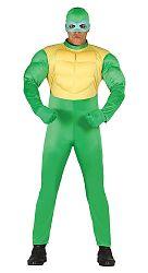Guirca Jelmez - ninja - zöld Méret - felnőtt: L