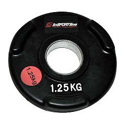 Gumírozott súlyzótárcsa inSPORTline Olympic 1,25 kg-II.osztály