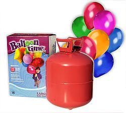 Hélium do 30 balónov Hélium 30 léggömb felfújására: Csak hélium