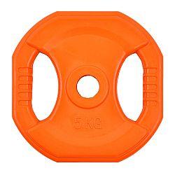 Négyszögletes gumis súlytárcsa inSPORTline Pump 5 kg - 25 mm