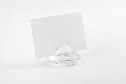 PartyDeco Átlátszó gyémánt névtábla tartó