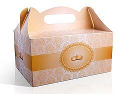 PartyDeco Dekoratív kóstoló doboz - arany 1 db