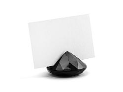 PartyDeco Fekete gyémánt névtábla tartó