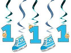 PartyDeco Függő dekoráció Első vagyok - kék