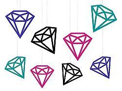 PartyDeco Függő dekoráció - gyémántok