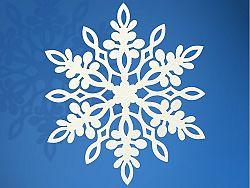 PartyDeco Függő dekoráció - hópehely