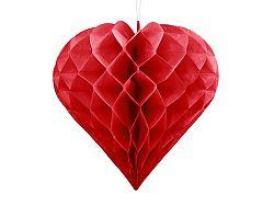 PartyDeco Függő dekoráció - Piros szív