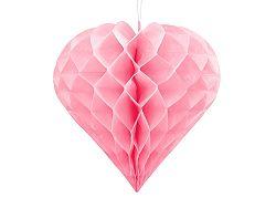 PartyDeco Függő dekoráció - Rózsaszín szív