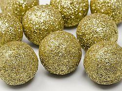 PartyDeco Glitteres gömbök - arany 9 db