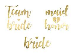 PartyDeco Ideiglenes tetoválás - Team Bride