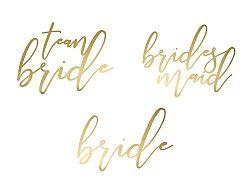 PartyDeco Ideiglenes tetoválás - Team Bride arany