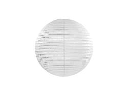 PartyDeco Kerek papír lampion - fehér 20 cm